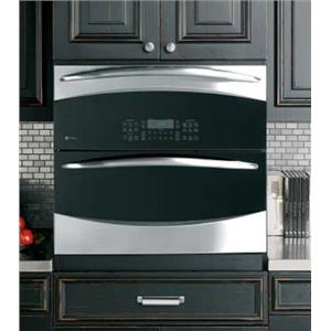 """NIB GE PROFILE PT925SNSS 30"""" 5.0 cu. ft. DOUBLE ELECTRIC WALL OVEN SS/BLK"""