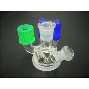 Chemglass Reaction Vessel Lid 6-Neck w/ Thermometer Joint Mettler