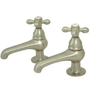 "Kingston Brass KS3208AX Restoration 4"" Centerset Bathroom Sink Faucet - Satin Nickel"