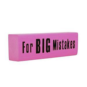Giant Jumbo Pink XXL Eraser For Big Mistakes Funny Novelty Gag Gift