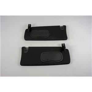 2013-2015 Dodge Dart Sun Visor Set with Cover Lighted Mirrors and Adjust Bars