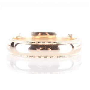Men's 14k Yellow Gold Large Milgrain Style Wedding Band / Ring 5.5g Size 13