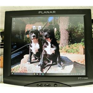 "Planar 17"" PT1710MX-BK Touchscreen LCD Monitor Built-in Speakers NO STAND good"