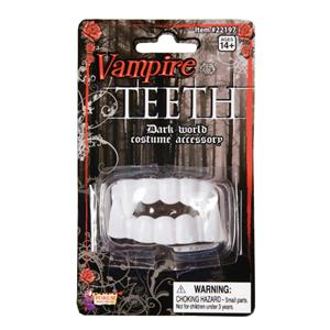 Soft Plastic White Vampire Dracula Dark Side Teeth Fangs