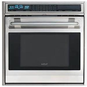 """Wolf L Series 30"""" 4.5 SS Dual Convection Single Electric Wall Oven SO30FS"""