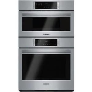 """Bosch 800 Series 30"""" 10 Cooking Program SS Microwave Combination Oven HBL87M52UC"""