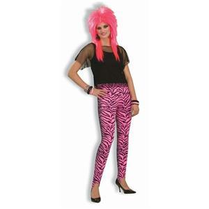 Women's 80's Hot Pink Zebra Print Stir-Up Pants Costume Accessory
