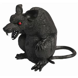 "7"" Hard Plastic Standing Rat Halloween Prop Decoration"