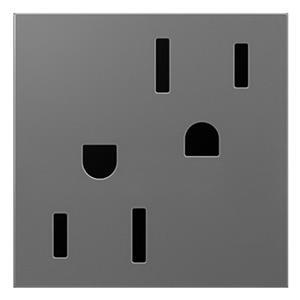 Legrand ARTR152M4 adorne Magnesium Duplex Outlet 15A