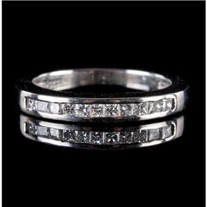 Platinum Princess Cut Channel Set Diamond Wedding / Anniversary Band .33ctw