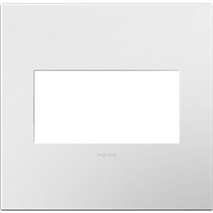 Legrand AWP2GWHW10 adorne Gloss White-on-White 2-Gang Wall Plate