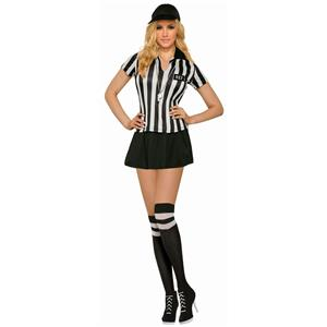 Sexy Referee Adult Costume Standard Size 8-14