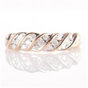 10k Yellow Gold Round Cut Diamond Fashion Band / Ring .23ctw
