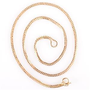 "Unisex 14k Yellow Gold Italian Box Chain Necklace 31"" Length 6.4g"