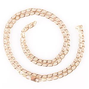 "Classic 14k Yellow Gold Anchor Chain Necklace 19"" Length 5.2g"