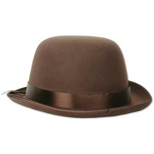 Brown Sherlock Holmes Bowler Derby Hat Costume Accessory