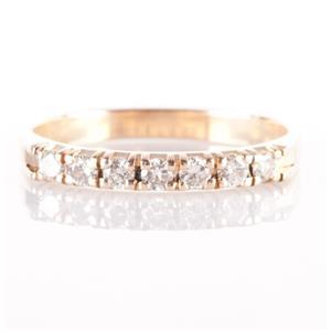 14k Yellow Gold Round Cut Seven-Stone Diamond Wedding / Anniversary Band .21ctw