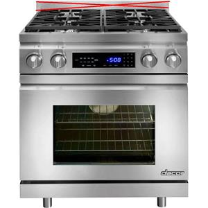 Dacor Distinctive 30 Inch Pro-Style Slide-in Dual-Fuel Range Stainless DR30DING