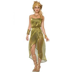 Gold Roman Toga Adult Costume Dress