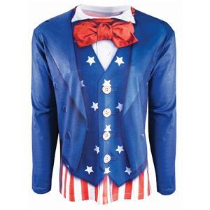 Instantly Patriotic Realistic Uncle Sam Sublimation T-Shirt Adult Size Large