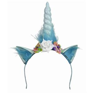Unicorn Floral Headband Headpiece Costume Accessory