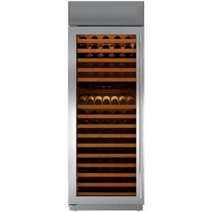 Sub-Zero 30 Inch 147-Bottle Capacity Stainless Steel Wine Storage BW30STHLH