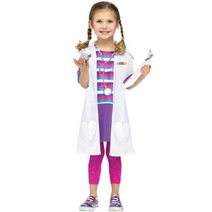 Fun World Costumes Baby Girl's Dolly Doctor Toddler Costume Size Large 3T-4T Doc