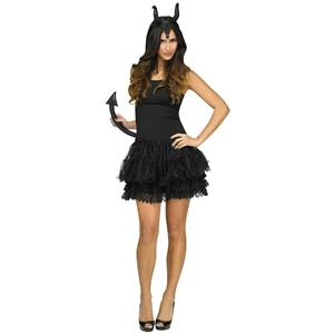 Fun World Sexy Horned Dark Dragon Queen Horns & Tail 2pc Costume Accessory Kit
