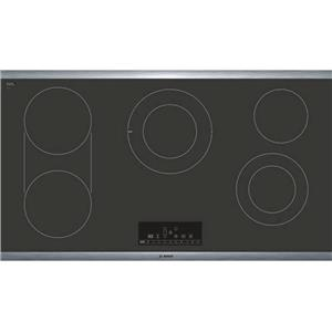 """Bosch Benchmark Series 36"""" 5 Heating Elements Electric Cooktop NETP668SUC"""