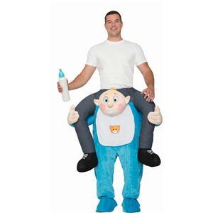 Forum Men's Ride on Baby Deluxe Adult Shoulder Rider Costume