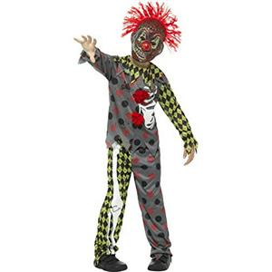 Smiffy's Deluxe Twisted Clown Child Costume Boy's Size Small 4-6