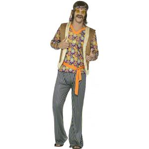 Smiffy's Mens 60s Hippie Singer Adult Costume Size Large 70s Groovy Retro Dude