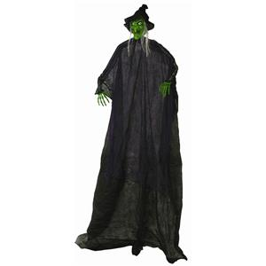 6' Hanging Witch Halloween Decoration Prop