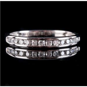10k White Gold Channel Set Diamond Wedding / Anniversary Band .25ctw