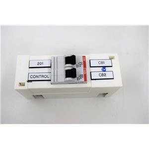 ABB 2 Pole Circuit Breaker S271 K10A & K6A f/Amersham BioProcessing System