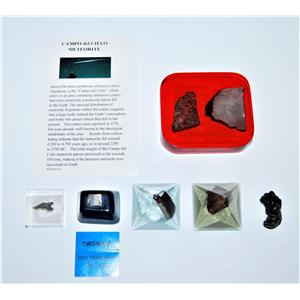METEORITE Lot of 6 -Various Locations GREAT for TEACHERS & Collectors #13385 10o