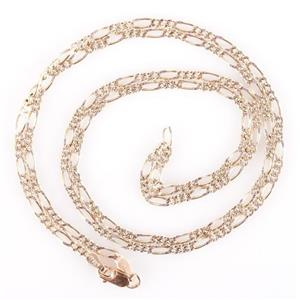 "10k Yellow Gold Italian Figaro Chain 24"" Length 6.3g"
