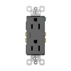 Legrand Pass & Seymour 885TRBK Black Tamper-Resistant 15A Duplex outlet 10pack