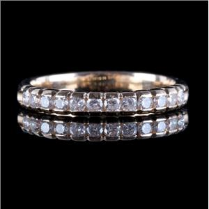 14k Yellow Gold Round Cut Diamond Wedding / Anniversary Band .18ctw