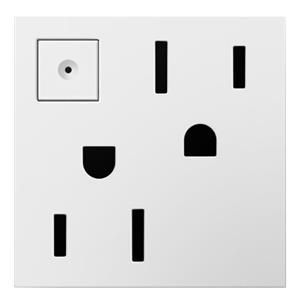 Legrand ARPS152W4 adorne White Duplex Energy-Saving On / Off Outlet 15A