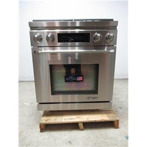 """Dacor Distinctive 30"""" Pro-Style Slide-In Natural Gas Dual-Fuel Range DR30DIHNG"""