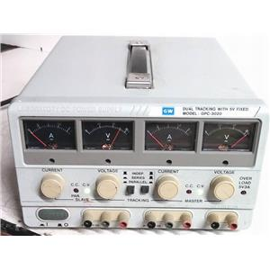 GW INSTEK GPC-3020 DUAL TRACKING POWER SUPPLY 5V FIXED 30V/30V/5V