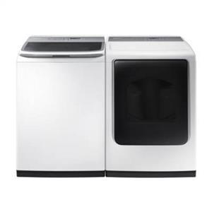 """NIB Samsung White 27"""" Electric Washer And Dryer set WA45K7600AW/ DV45K7600EW"""
