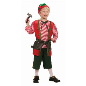 Toy Maker Elf Child Costume Size Large 12-14