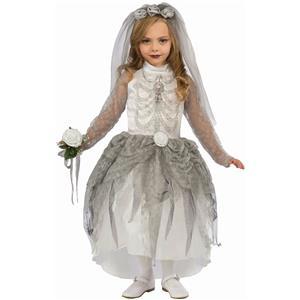 Forum Skeleton Bride Girl Child Costume Size Small 4-6