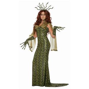 Medusa Snake Skin Ball Dress Adult Costume
