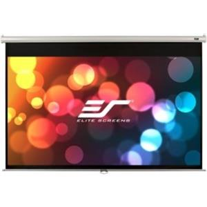 """Elite Screens M120XWV2 Projector Screen 4:3 120"""" Diagonal (96.""""W x 72.""""H) -White"""