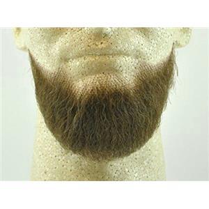 Medium Brown Human Hair Goatee Chin Beard Costume Beard 2023