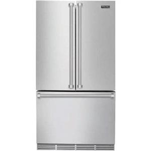 Viking 3 Serie 36 Inch Counter Depth French Door Refrigerator RVRF3361SS S.STEEL (6)