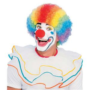 Multi Color Rainbow Clown Afro Adult Wig